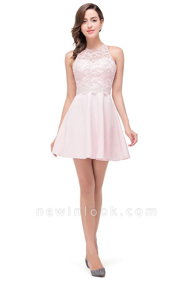 HARMONI   Cute Quinceanera Crew Mini Dama Dresses With Applique
