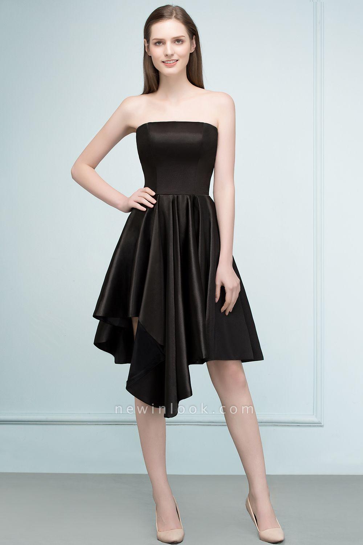 REA | Quinceanera Strapless Short Ruffles Black Dama Dresses