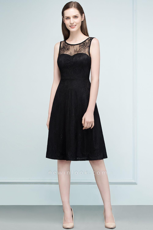 REBEKAH | Quinceanera Knee Length Sleeveless Lace Dama Dresses