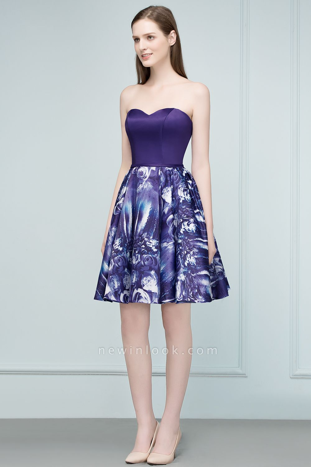 RICARDA | Quinceanera Strapless Sweetheart Short Print Dama Dresses