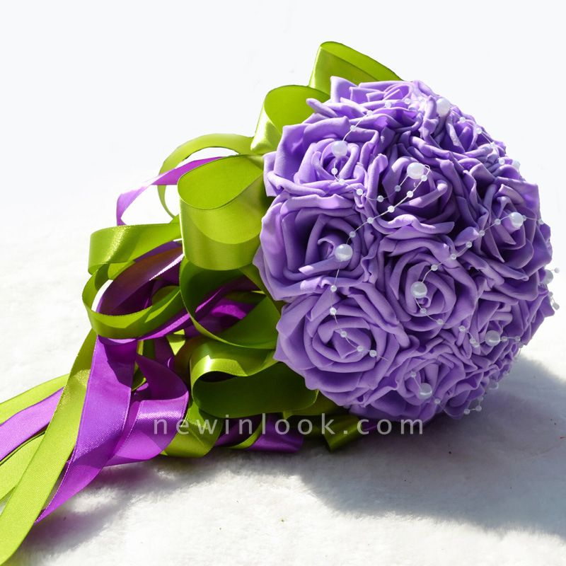 Maravilloso Seda Rose Múltiples colores ramo de la boda
