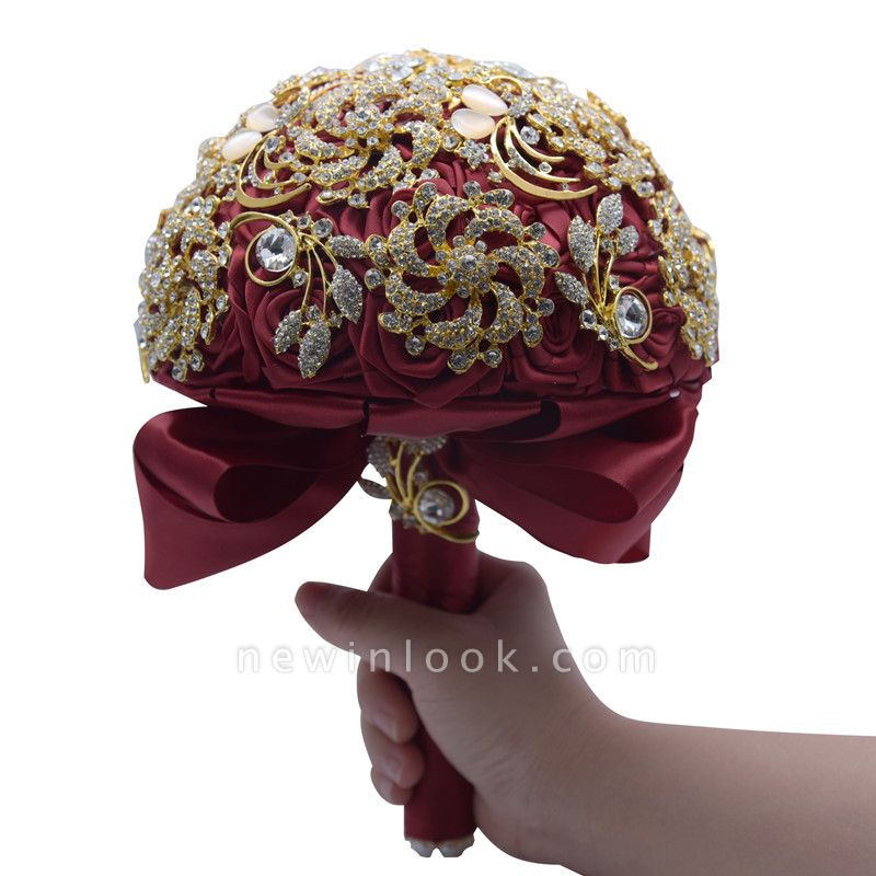 Cristal de lujo que rebordea el ramo de Rose para casarse
