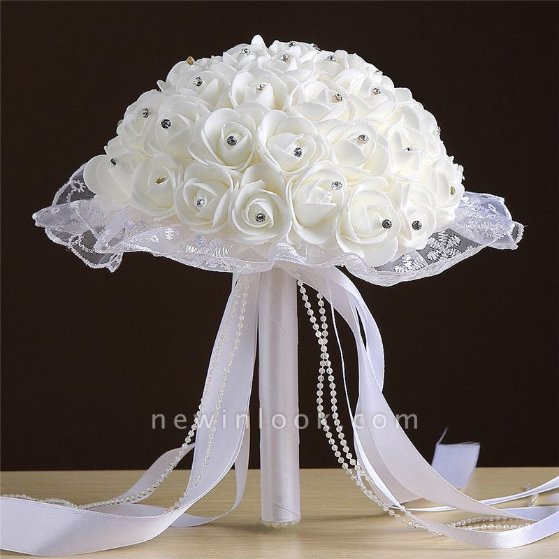 Grand Silky Rose Bouquet for Quinceanera in Multiple Colors