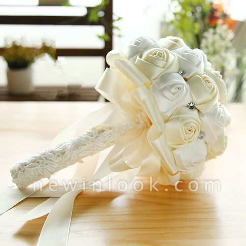 Two Colors Silky Rose Bouquet for Quinceanera