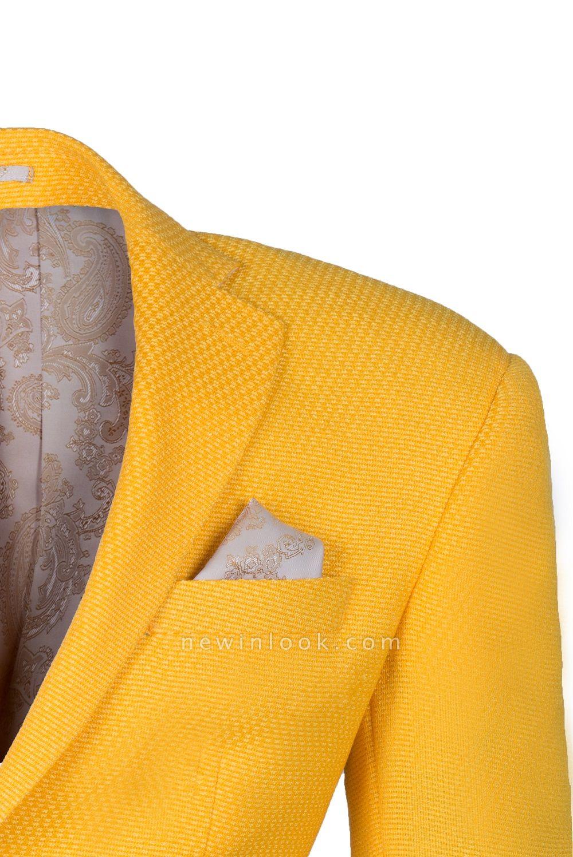 Padrinos de boda Ventilación posterior | De Alta calidad Ajustado Pico solapa amarillo