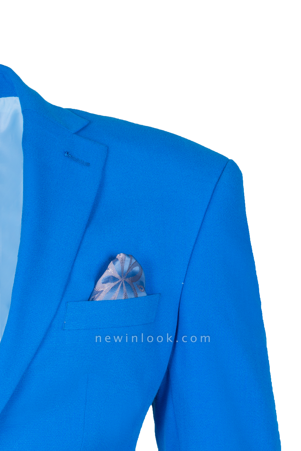 Un solo traje de novia de pecho | Solapa pico oceano azul Personalizar