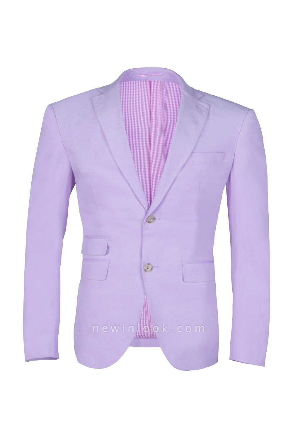 Custom Made Hot Recommend Lavender Peak Lapel Single Breasted Chambelanes Tuxedos