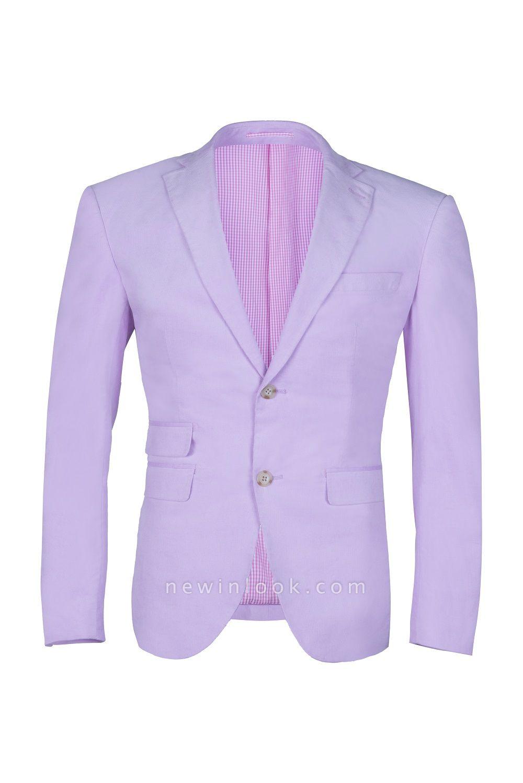 traje de boda por encargo caliente recomendar | lavanda pico solapa solo pecho