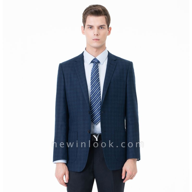 Lattice Two Button Peak Lapel Two Pieces with Pants Comfortable Chambelanes