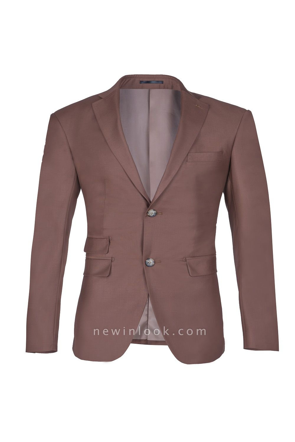 Chocolate Stylish Design Peak Lapel Two Button Single Breasted Chambelanes Tuxedos