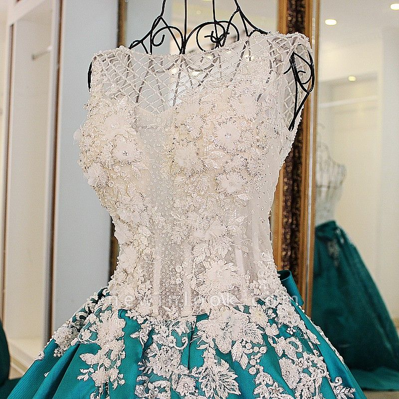 Exquisite Jewel Appliques Beading Quinceanera Dress