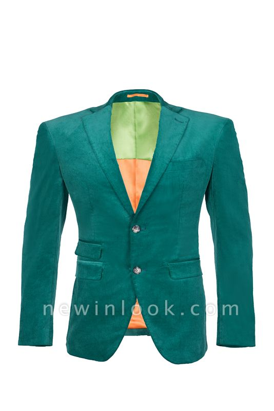 Customize Hot Recommend Single Breasted Peak Lapel Turquoise Chambelanes