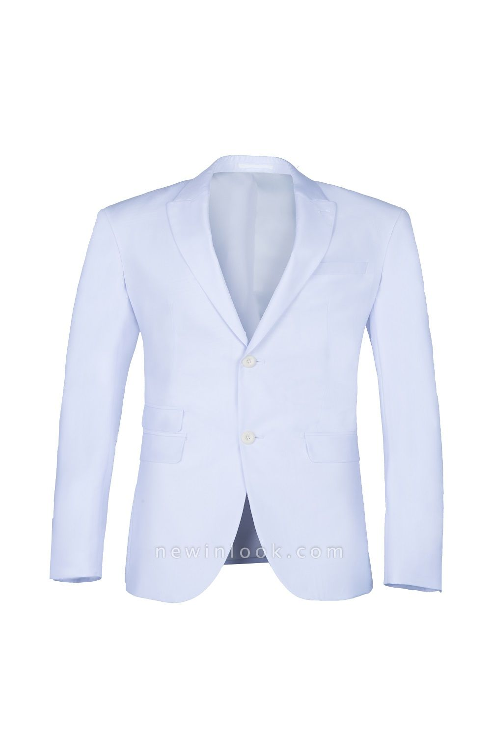 quinceanera Prom Suits White Peak Lapel Two Button Single Breasted
