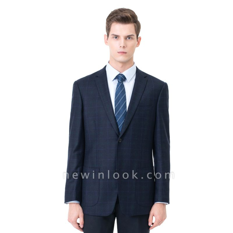 Two-piece Suit Two Button Single Breasted Peak Lapel Fashion Chambelanes