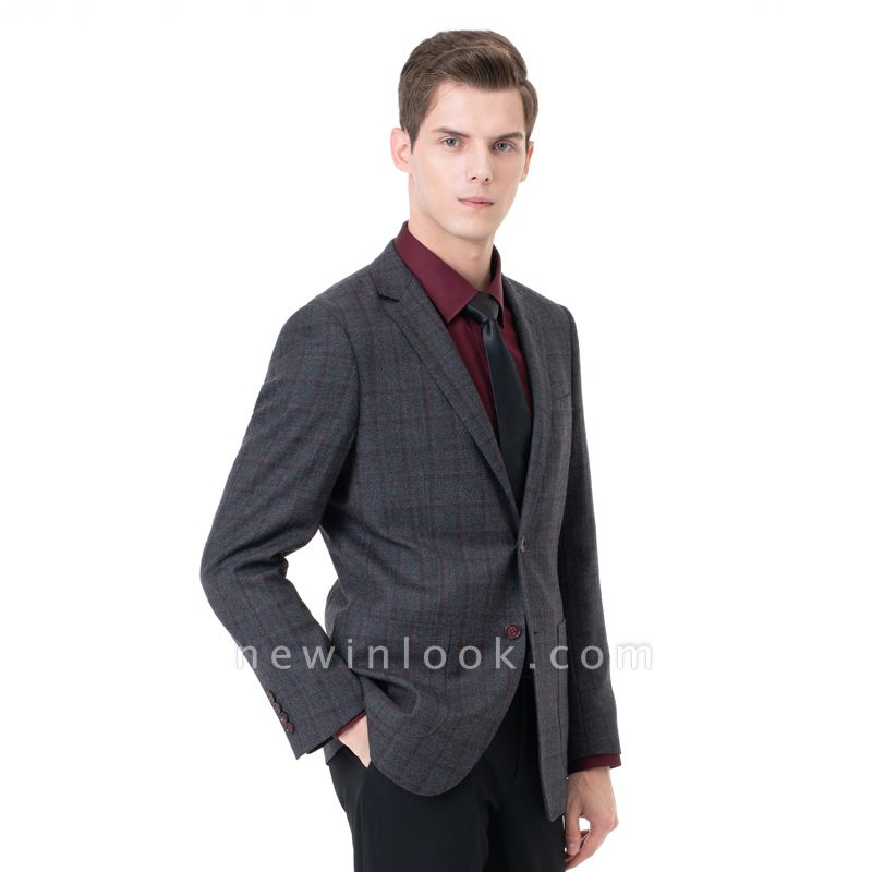 Career Suits Two Button Single Breasted Lattice Peak Lapel| Custom Made Chambelanes Tuxedos Online