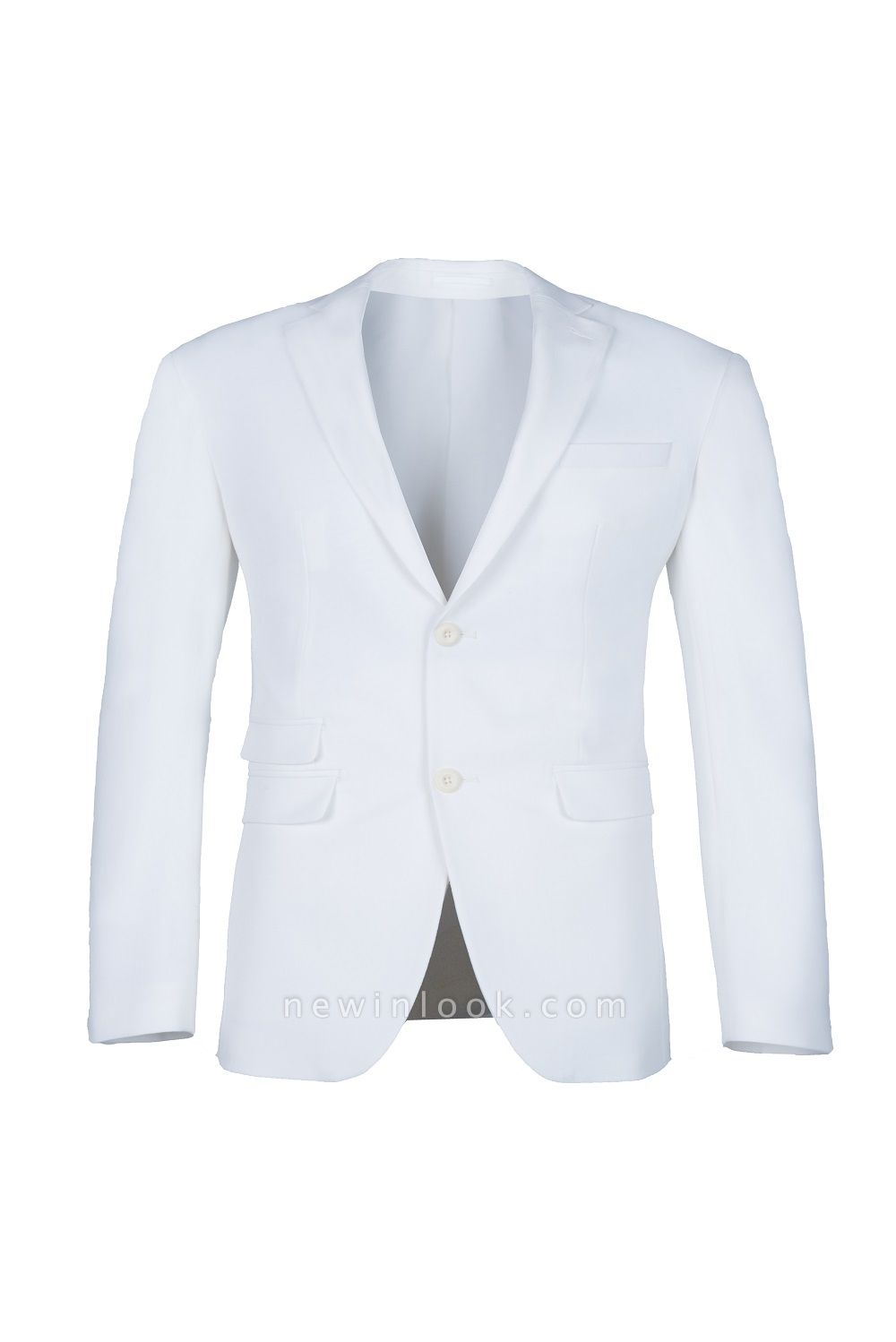 High Quality White Back Vent Two Button Casual Suit Chambelanes  Peak Lapel