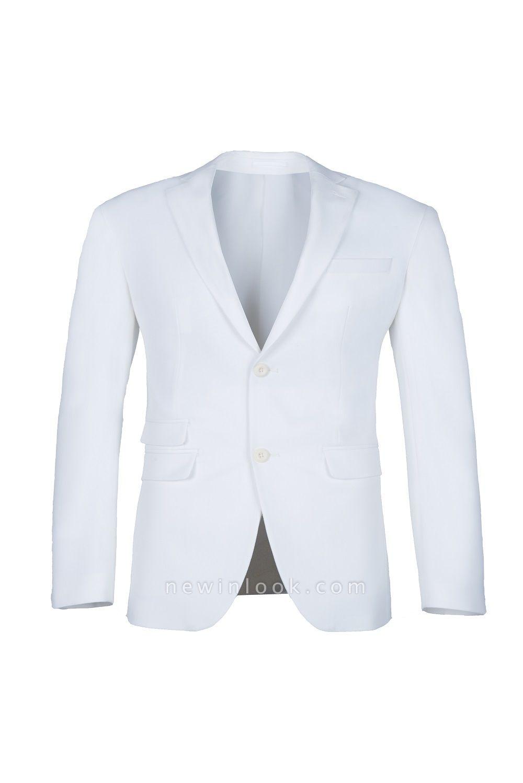 traje casual padrinos de boda pico solapa | De alta calidad de espalda blanca de ventilación de dos botones