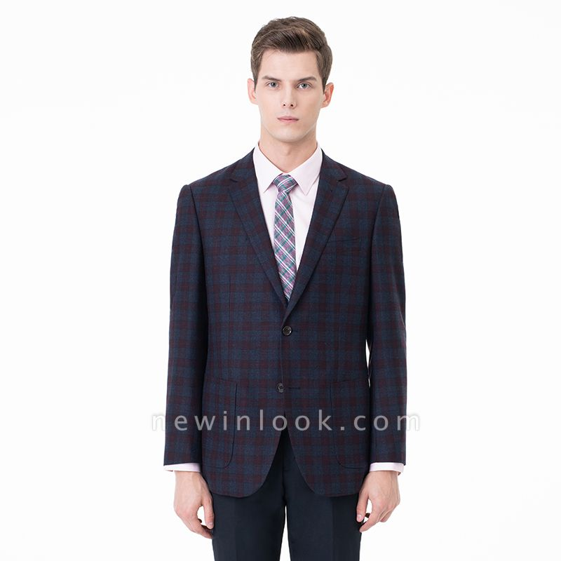 Lattice Peak Lapel Two Pieces with Pants Single Breasted Chambelanes Tuxedos