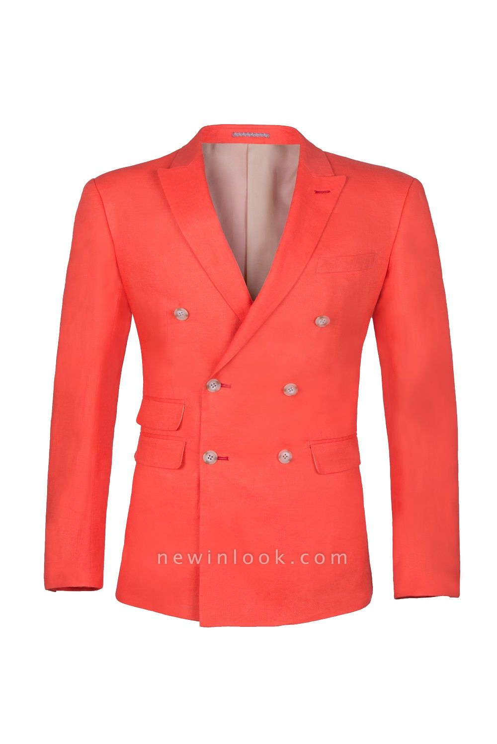 High Quality Latest Design Watermelon Peak Lapel Chambelanes Tuxedos Back Vent