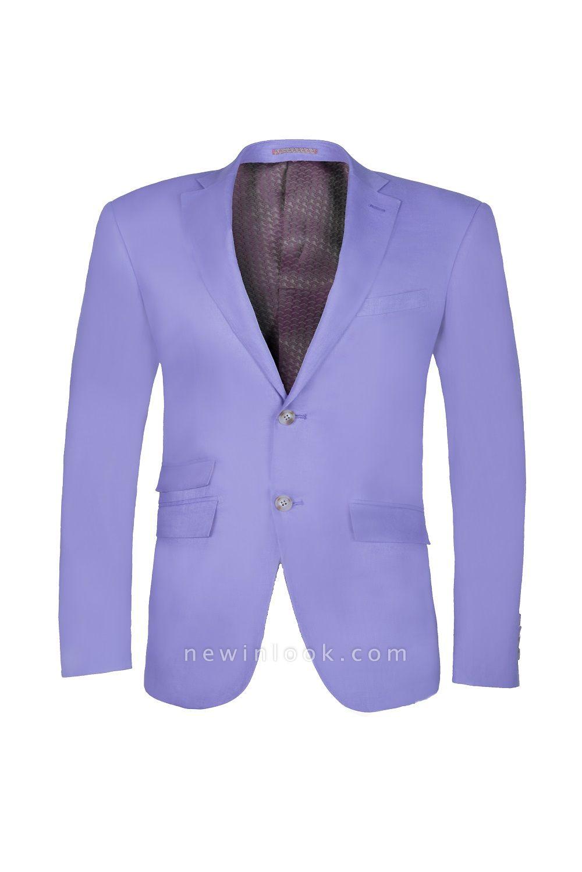 Lavender Peak Lapel Hot Recommend Back Vent Two Button Casual Suit
