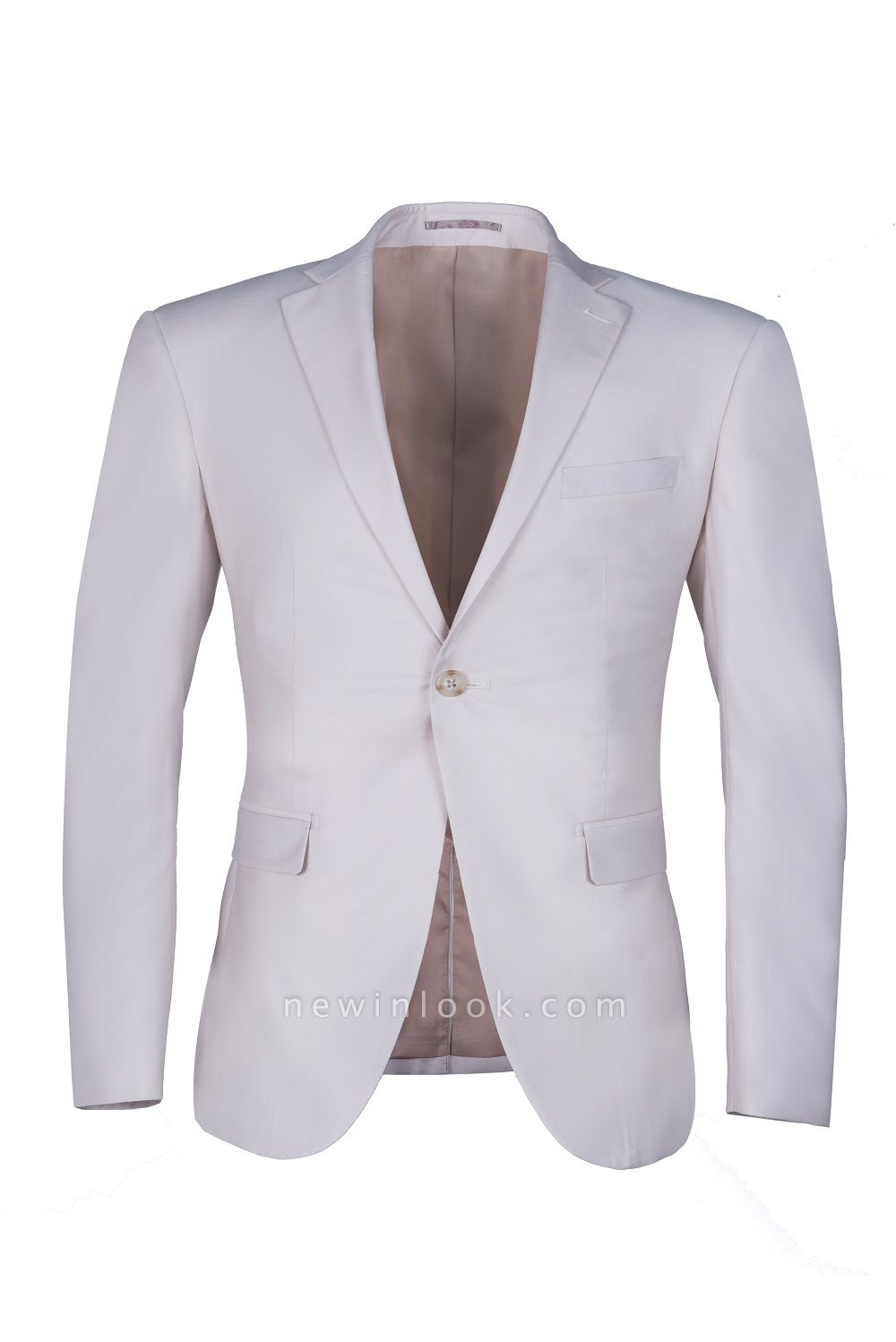 Customize Casual Suit Chambelanes  Ivory Peak Lapel Single Breasted High Quality