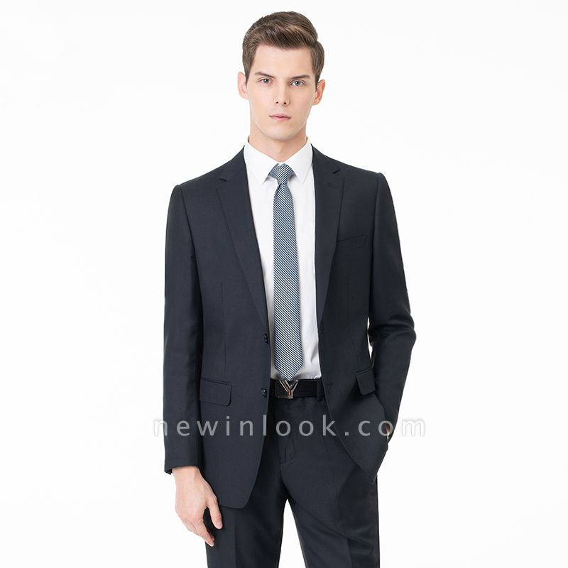 Comfortable Two Button Peak Lapel Two Pieces with Pants Slim Fit | Custom Made Chambelanes Tuxedos Online