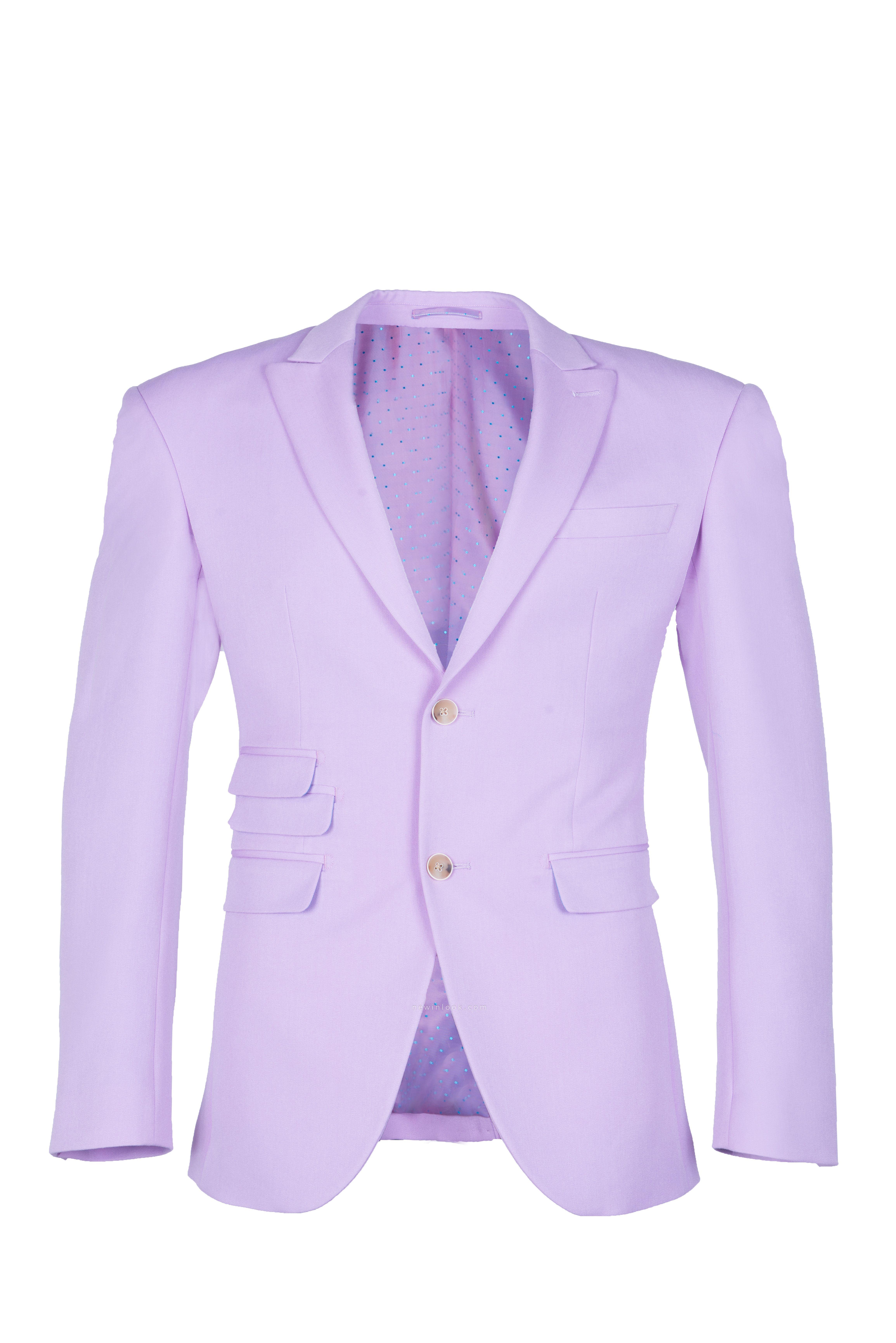 Hot Recommend Peak Lapel High Quality Two Button Lavender Casual Suit