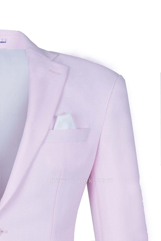 Traje rosado de alta calidad | la solapa del pecho de la solapa del pecho rosado