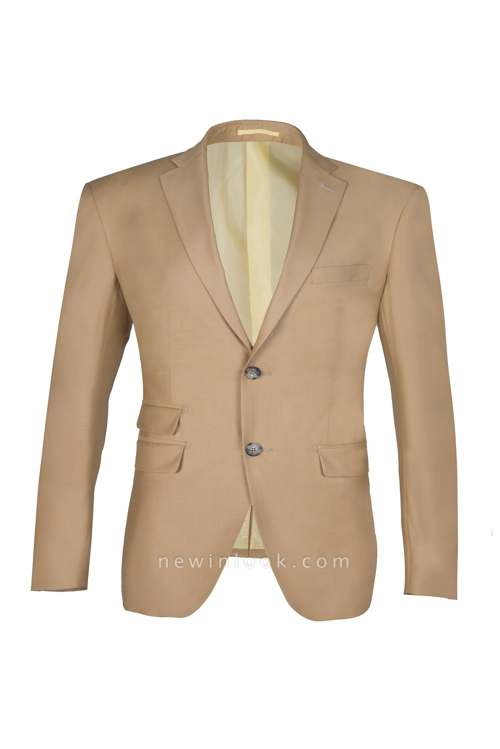 Latest Design Two Button Nude Color Peak Lapel Chambelanes Chambelanes Tuxedos