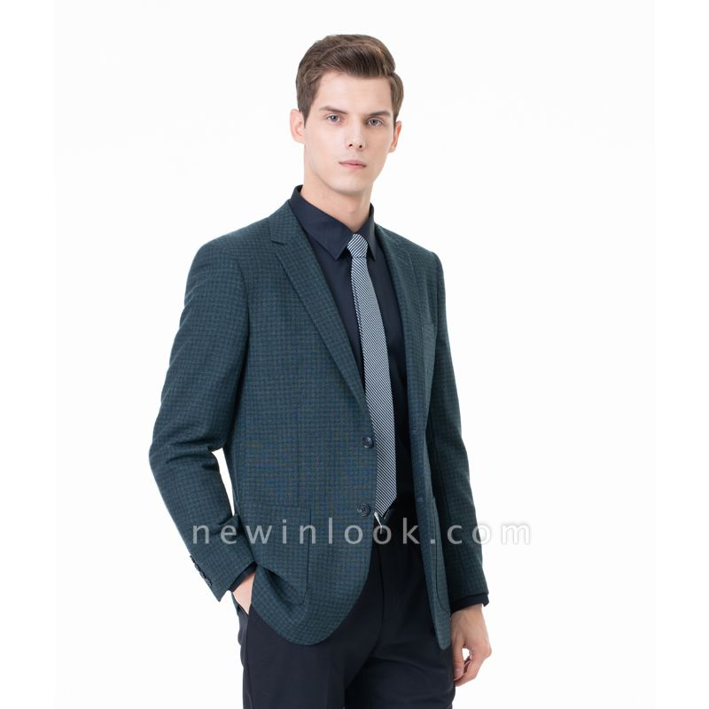 Customize Lattice Two-piece Suit Peak Lapel Single Breasted Career Suits | Chambelanes tuxedos for my quince