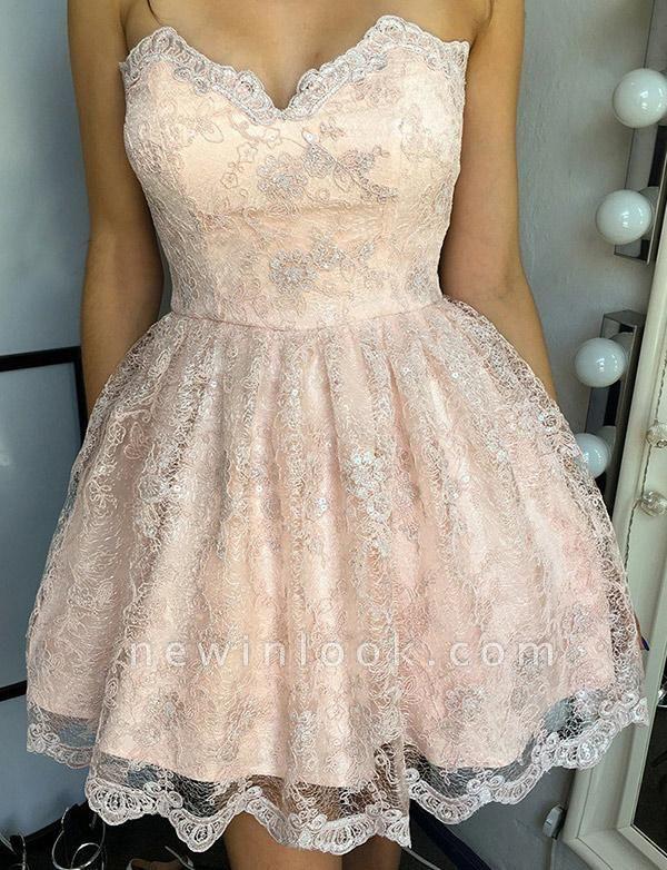 Unique Appliques Quinceanera Lace Romantic Sweetheart Lace-up Dama Dress