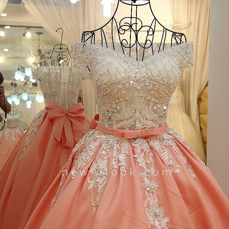 Off-the-shoulder Beading Ball Gown Quinceanera Dresses with Sash