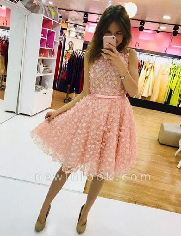 Lindo A-Linea vestido de regreso a casa | con apliques joya sin mangas mini