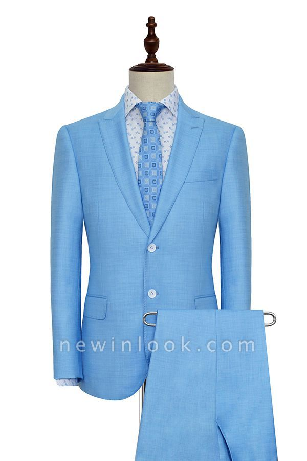 New Arrival Pool Two Button Casual Customized Tuxedos for my Quince  For Men | High Quality Peaked Lapel 2 Pockets Hand Made Wool Suit