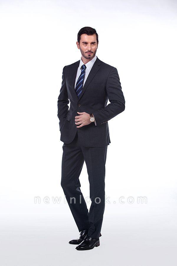 Lujo Premium gris a cuadros traje personalizado para hombres | Traje popular de la boda de los padrinos de boda de la solapa del pico