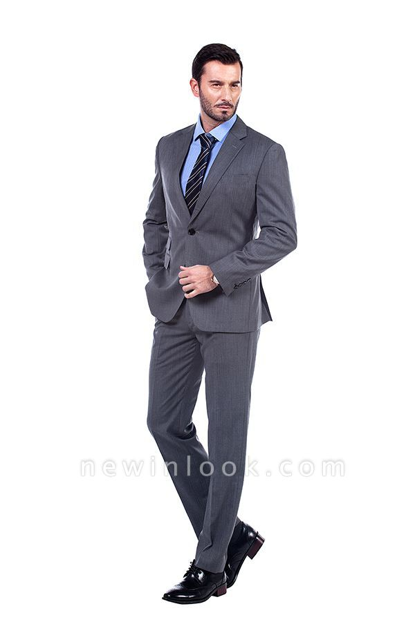 Single Breasted Notched Lapel Classic Suit | New Design 2 Pieces Two Button Slim Fit Chambelanes Tuxedos