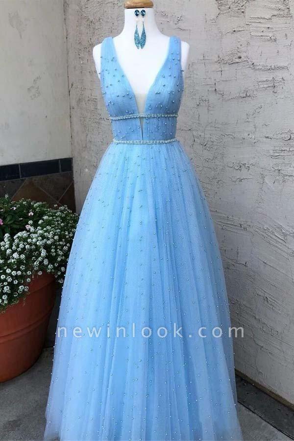 Elegantes lentejuelas correas vestidos de baile | Vestidos de noche sin mangas con cuentas