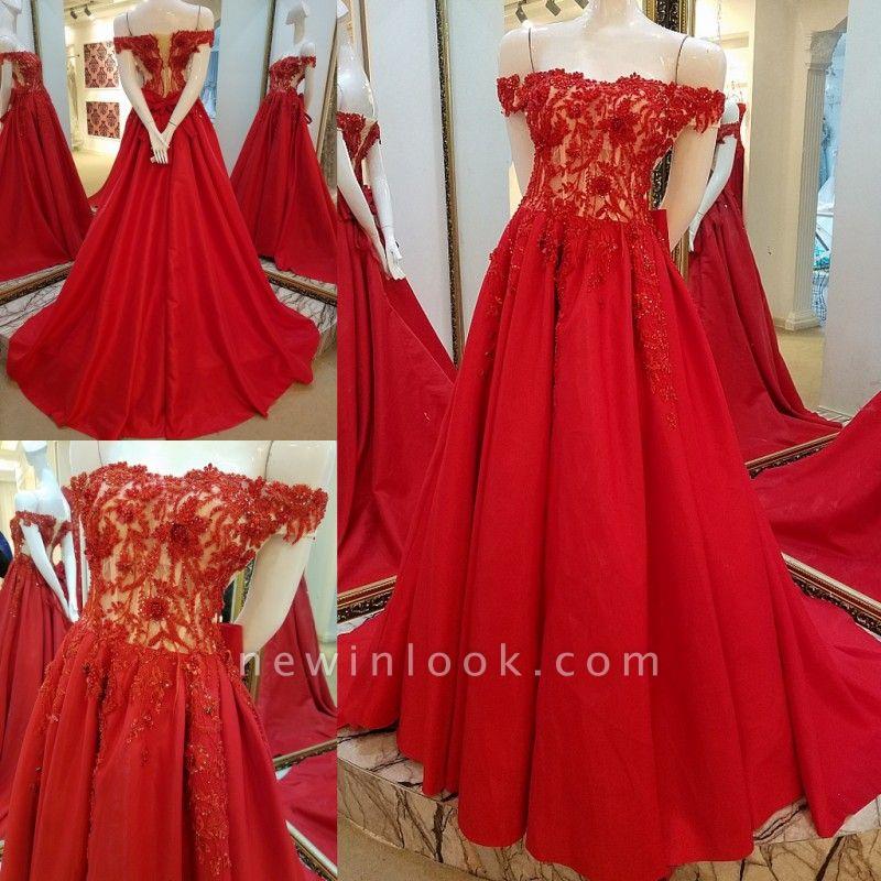 vestidos de quincea_era fuera del hombro | Elegantes Apliques de una línea