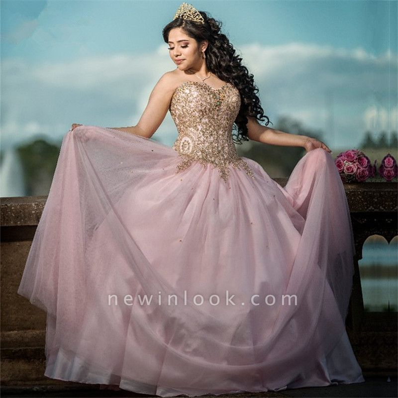 Marvelous Sweetheart Beadings Ball Gown Sweet 16 Dresses | Stunning Quinceanera Dresses Long
