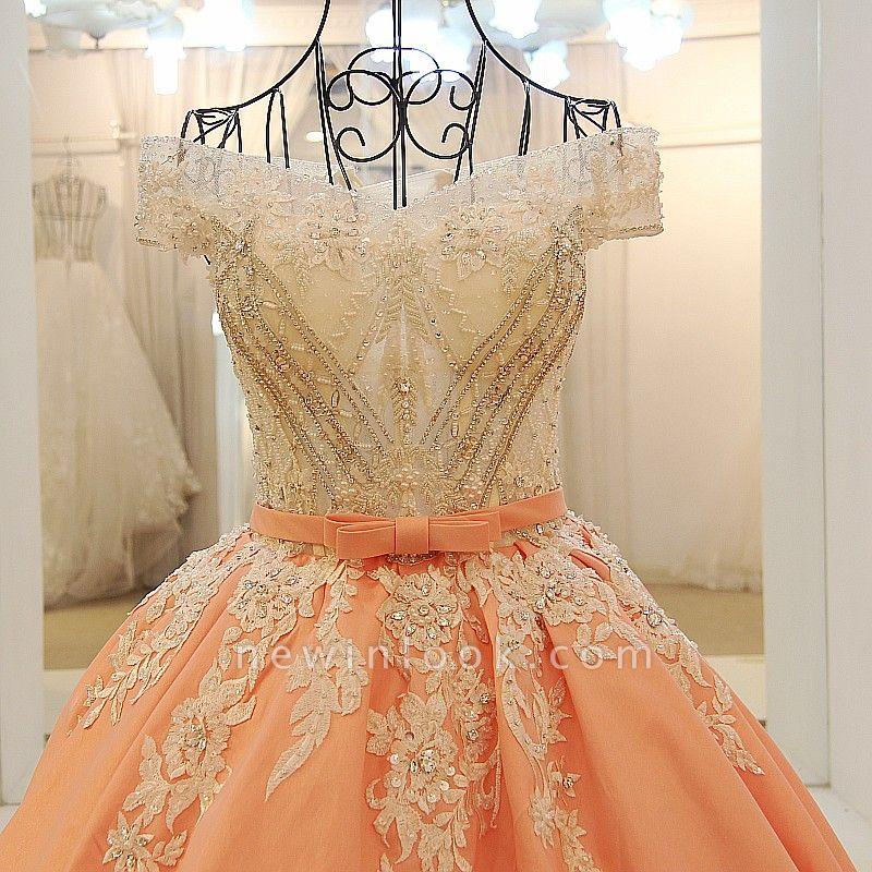 Ball-gown Off-the-shoulder Appliques Sash Quinceanera Dresses