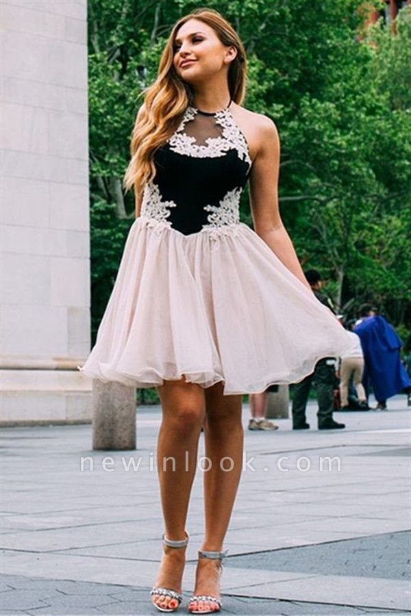 Jewel Appliques Sleeveless Mini Dama Dress