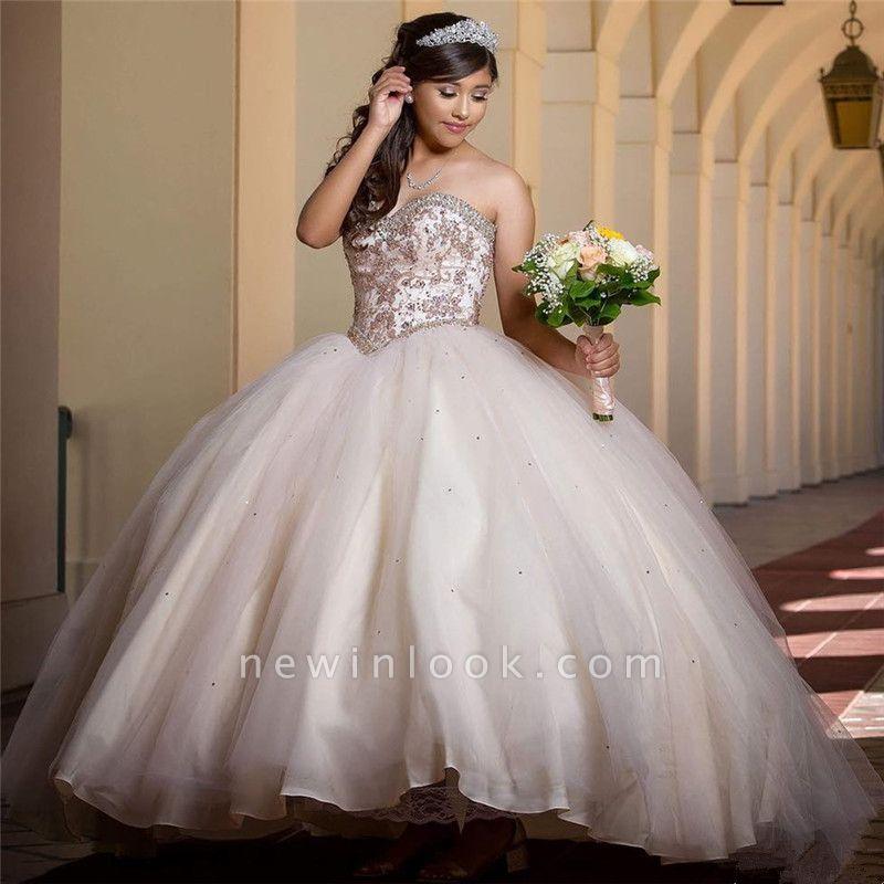Exquisitos vestidos de novia vestido de fiesta vestidos de quinceañera Apliques Sweet 16 Vestidos Largos