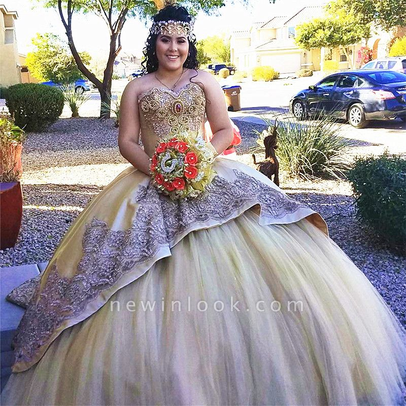 Wonderful Sweetheart Beadings Ball Gown 15 Dresses | Sleeveless Appliques Quinceanera Dresses Long