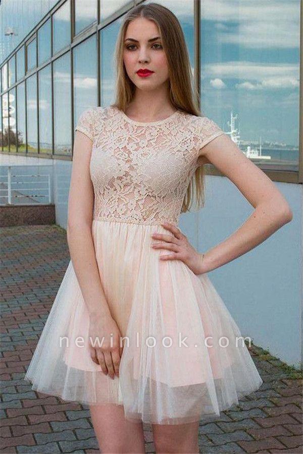 Illusion Lace Tulle Jewel Sleeveless Dama Dress