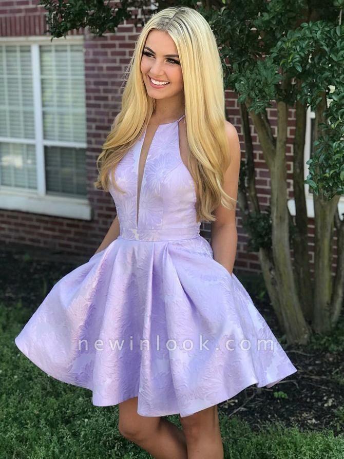 Deep-Sexy V-Neck Halter Appliques Quinceanera Sleeveless Dama Dress