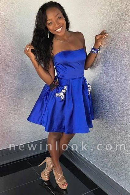Strapless Romantic Sweetheart Beading Dama Dress