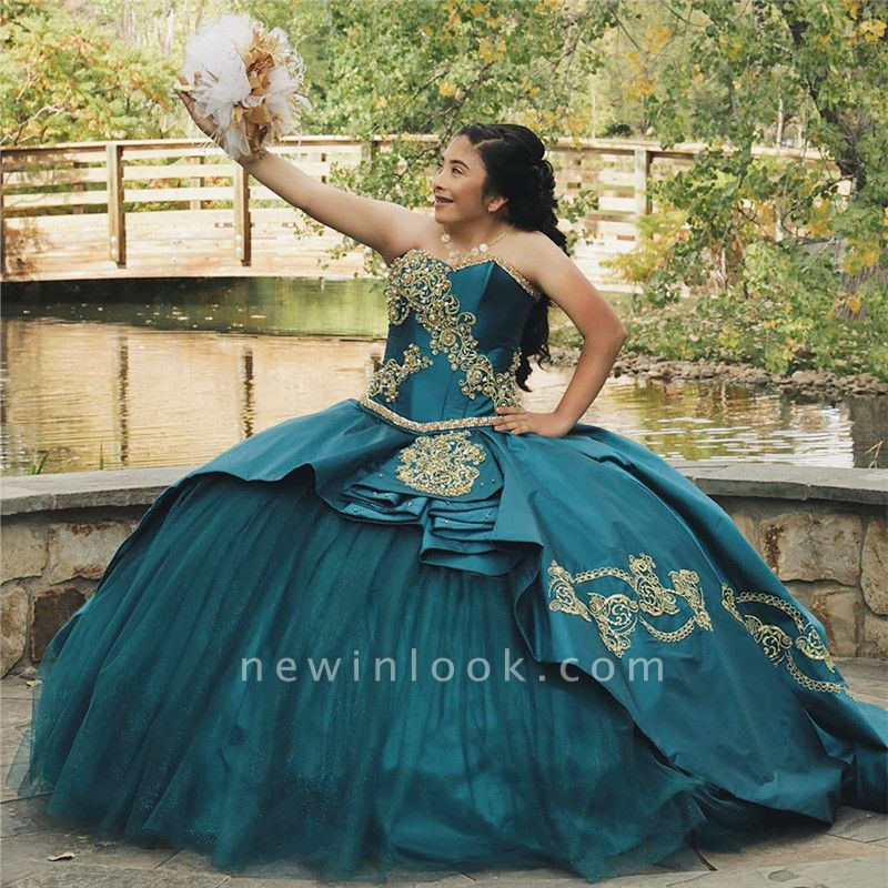 Fabulous Sweetheart Embroidery Ball Gown XV Dresses | Layered Quinceanera Dresses Long