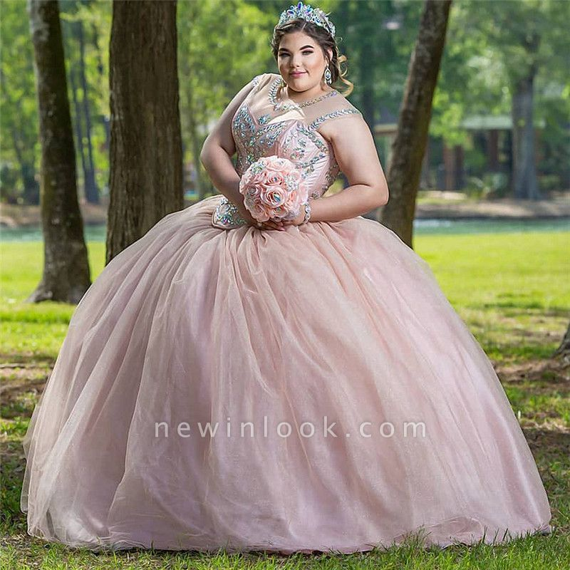 Wonderful Jewel Beadings Ball Gown 15 Dresses | Sleeveless Quinceanera Dresses Long