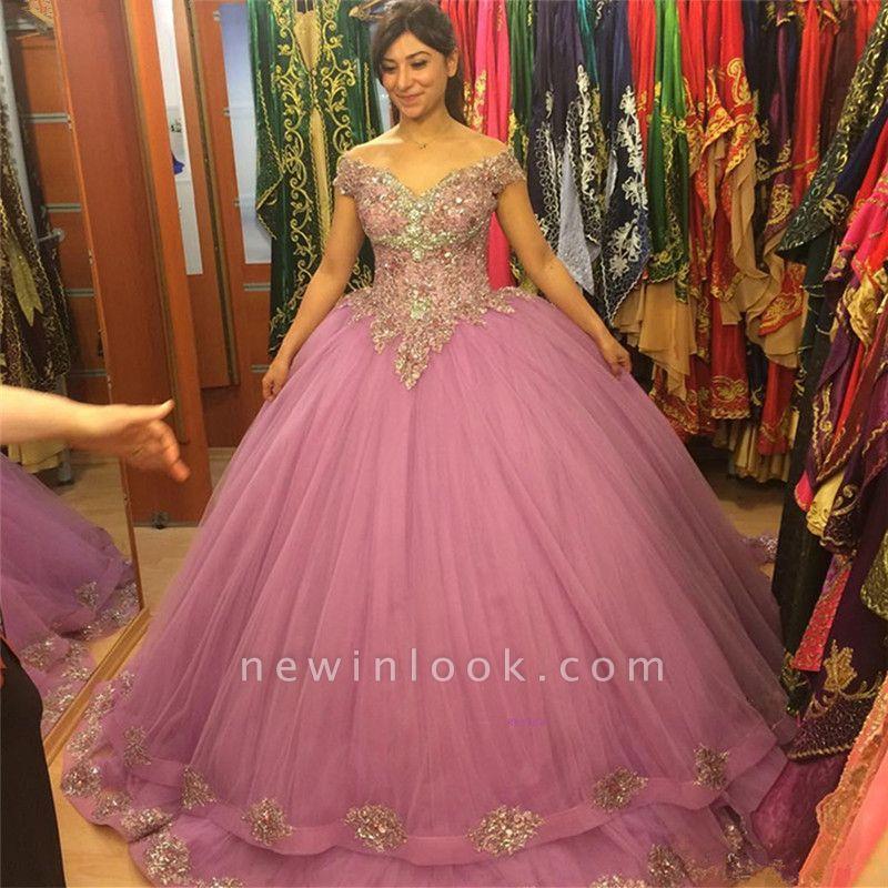 Excelentes hombros descubiertos vestido de fiesta Vestidos de fiesta | Apliques xv vestidos largos