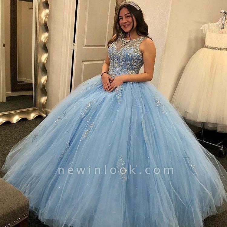 Joyas maravillosas Listones vestido de bola dulce 16 vestidos | Apliques Quinceañera Vestidos Largos